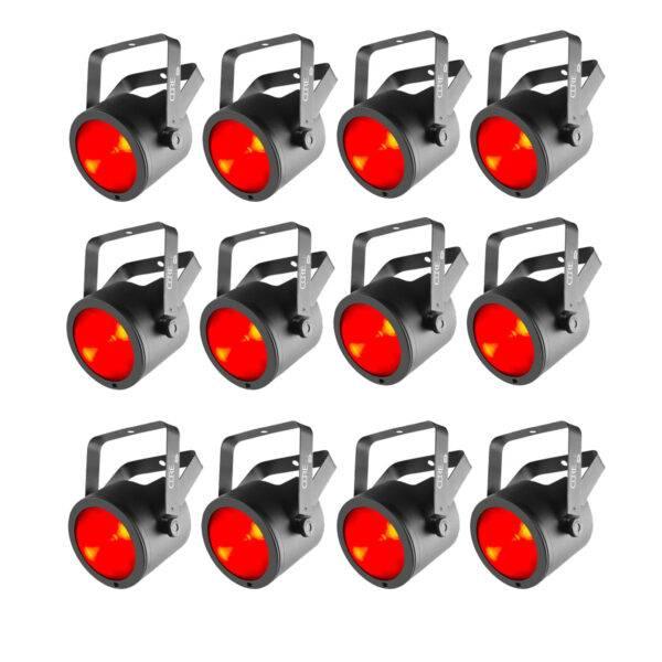 (12) Chauvet DJ COREpar 40 USB 40W RGB COB Par