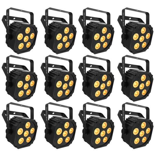 Chauvet DJ EZLink Par Q6 BT Wireless RGBA LED Par 12-Pack