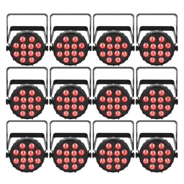 Chauvet DJ SlimPAR T12 BT Compact Wash LED (RGB) PAR 12-Pack
