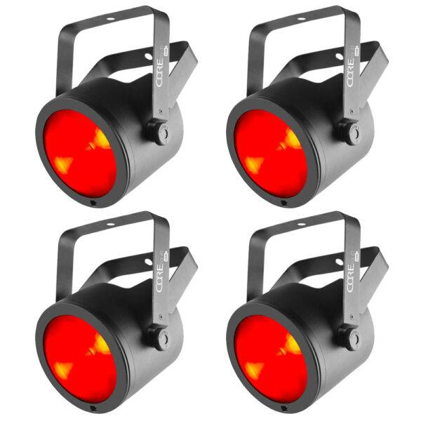 (4) Chauvet DJ COREpar 40 USB 40W RGB COB Par