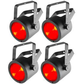 (4) Chauvet DJ COREpar 80 USB 80W COB RGB Par