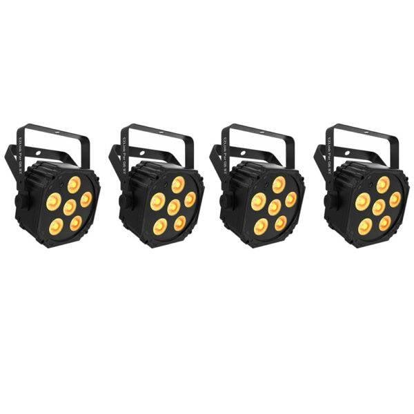 Chauvet DJ EZLink Par Q6 BT Wireless RGBA LED Par 4-Pack