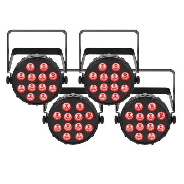 Chauvet DJ SlimPAR T12 BT Compact Wash LED (RGB) PAR 4-Pack