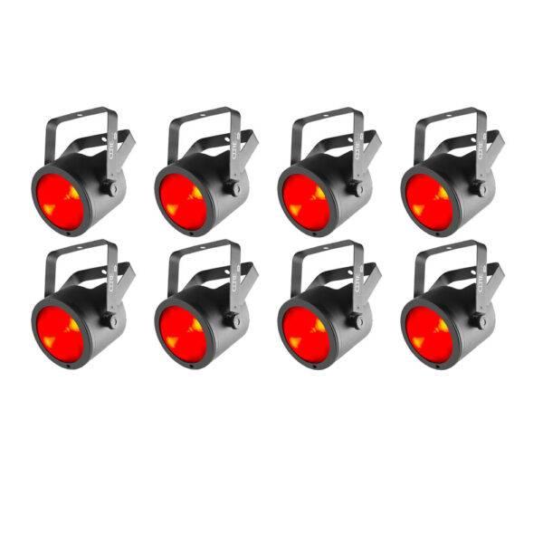 (8) Chauvet DJ COREpar 40 USB 40W RGB COB Par