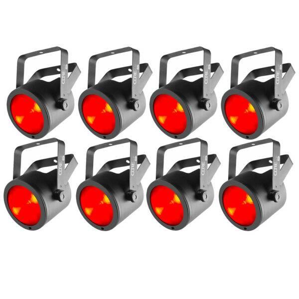 (8) Chauvet DJ COREpar 80 USB 80W RGB COB Par