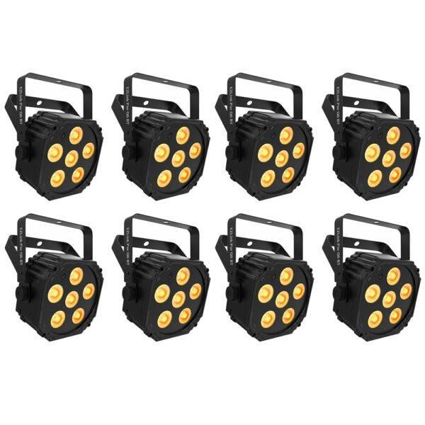Chauvet DJ EZLink Par Q6 BT Wireless RGBA LED Par 8-Pack