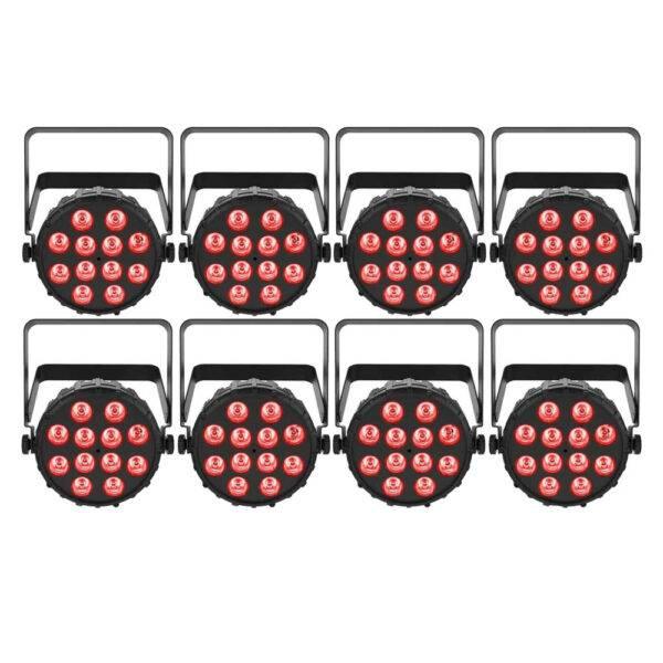 Chauvet DJ SlimPAR T12 BT Compact Wash LED (RGB) PAR 8-Pack