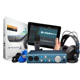 PreSonus AudioBox iTwo Studio Bundle Includes with Studio One 4