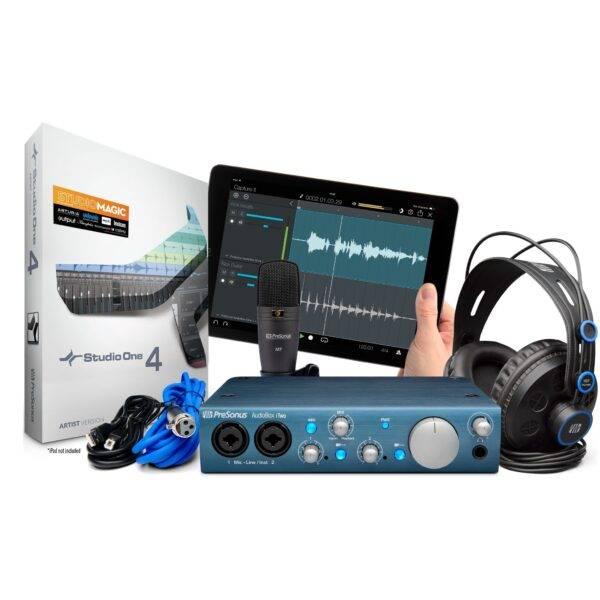 PreSonus AudioBox iTwo Studio Bundle Includes with Studio One 4