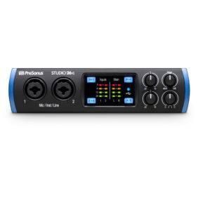 PreSonus Studio 26c 2x4 USB Type-C Audio/MIDI Interface