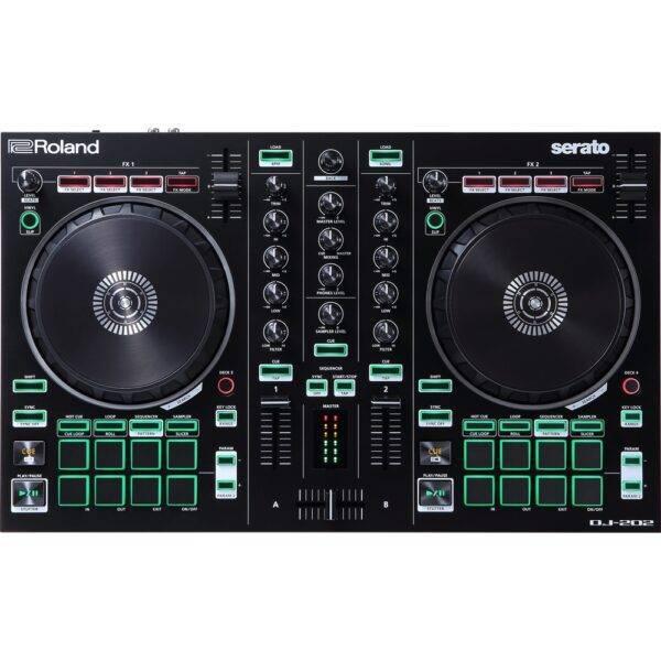Roland DJ-202 2-channel, 4-deck DJ Controller for Serato