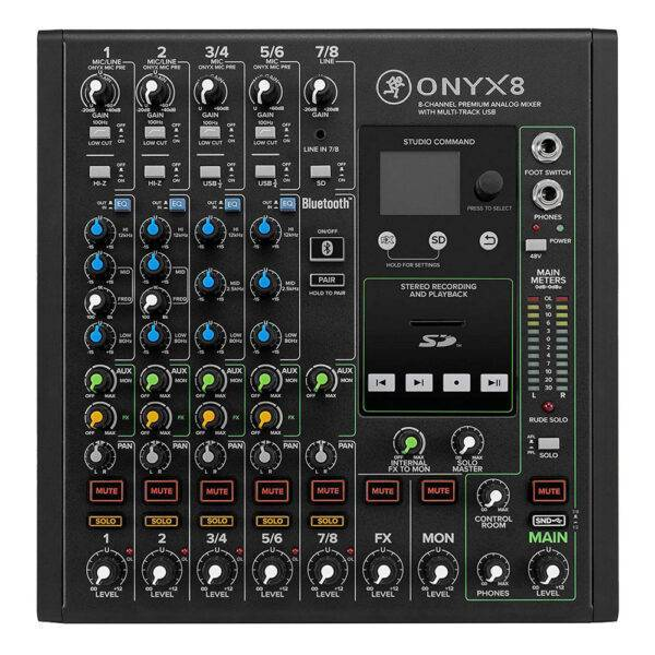 Mackie Onyx8 8-channel Analog Mixer with Multi-Track USB