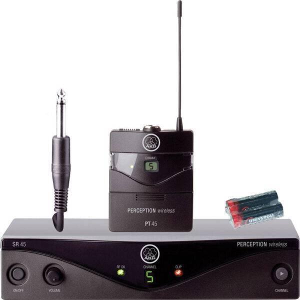 AKG Perception Wireless 45 Instrument System Band A w/2 AA Batteries