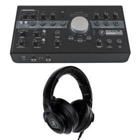 Mackie Big Knob Studio Plus with MC-250 Professional Headphones Bundle
